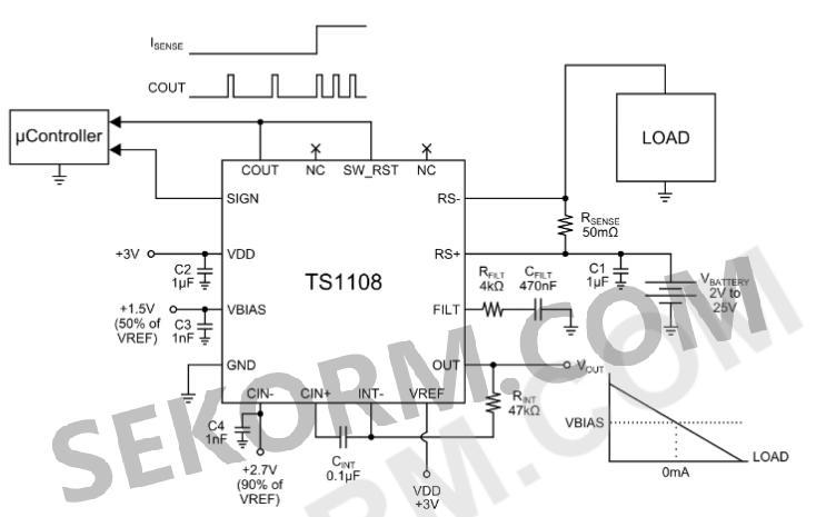 68μa的高精度双向电流检测放大器,适用于可穿戴设备