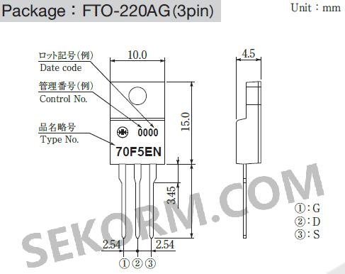 p70f5en主要用于高速脉冲放大器,负载/电源开关,电源转换器电路,逆变