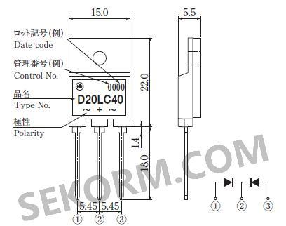 d20lc20u/d20lc40采用thd封装(ito-3p(3引脚)),组装密度高,体积小